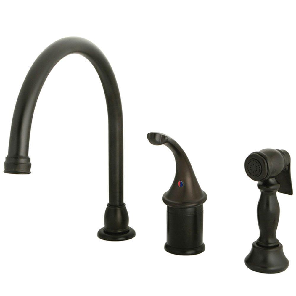 Kingston Brass KB3815GLBS Georgian Kitchen Faucet With Brass Sprayer, Oil  Rubbed Bronze   Price: