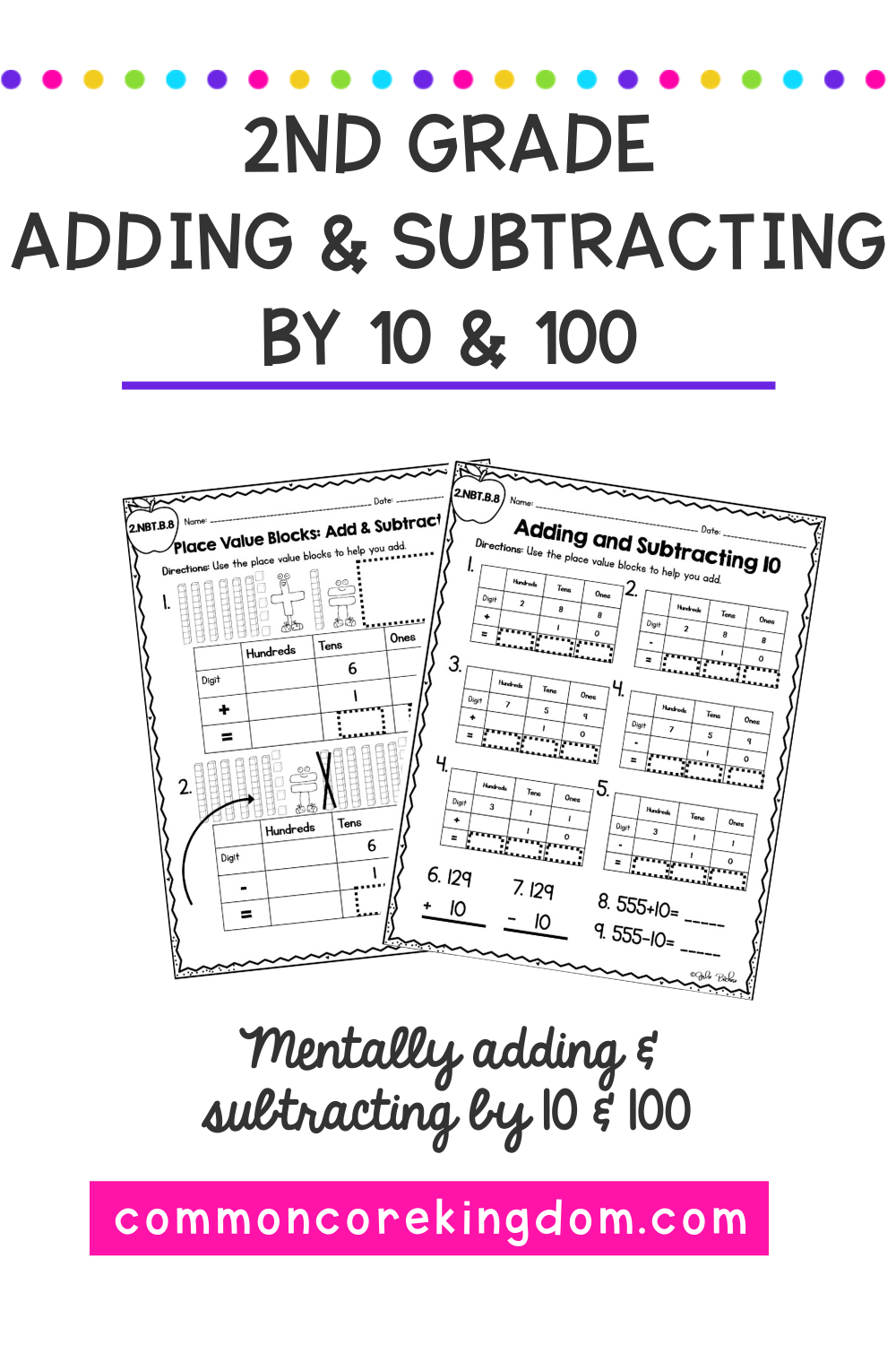 Add And Subtract 10 And 100 2nd Grade 2 Nbt B 8 Google Slides Distance Learning Adding And Subtracting 2nd Grade Worksheets 2nd Grade Math Worksheets [ 1500 x 1000 Pixel ]
