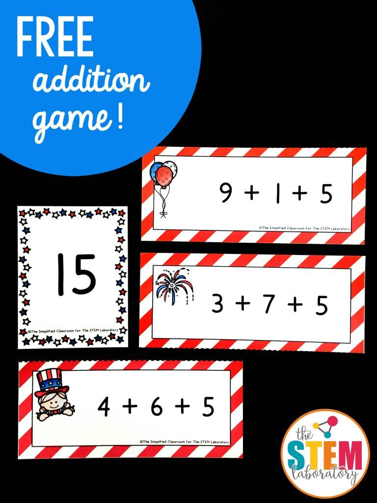 hight resolution of Fourth of July Addition Activity - The Stem Laboratory   Patriotic math  activities