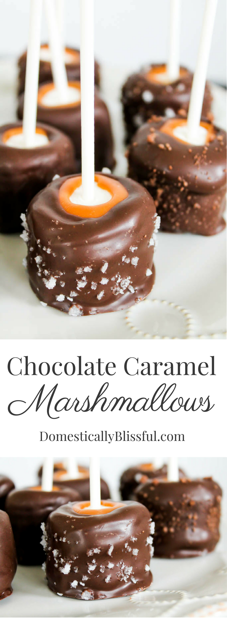 Chocolate Caramel Marshmallows Chocolate Caramel Marshmallow are a delicious treat, especially when sprinkled with chocolate sea salt!