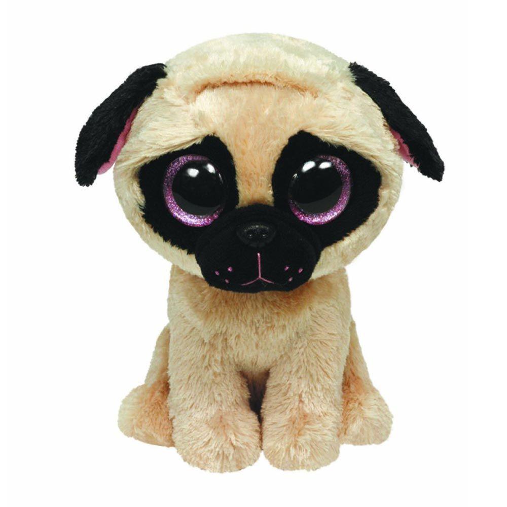 8bb1d3ed2ba TY Beanie Boo - Pugsley the Pug (6 inch)  sparkly eyes