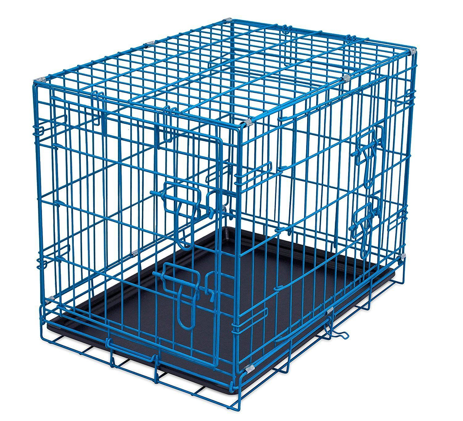 Internets Best Double Door Steel Crates Collapsible and Foldable ...