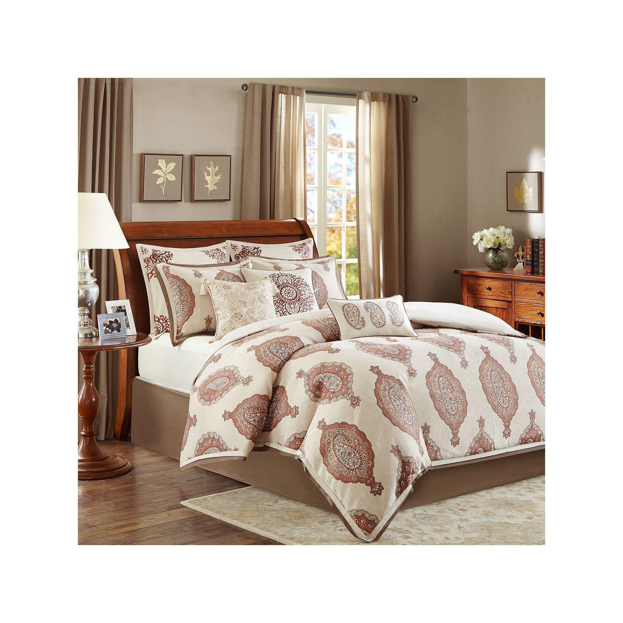 Bombay Estella Comforter Set Brown Comforter Sets Bedding