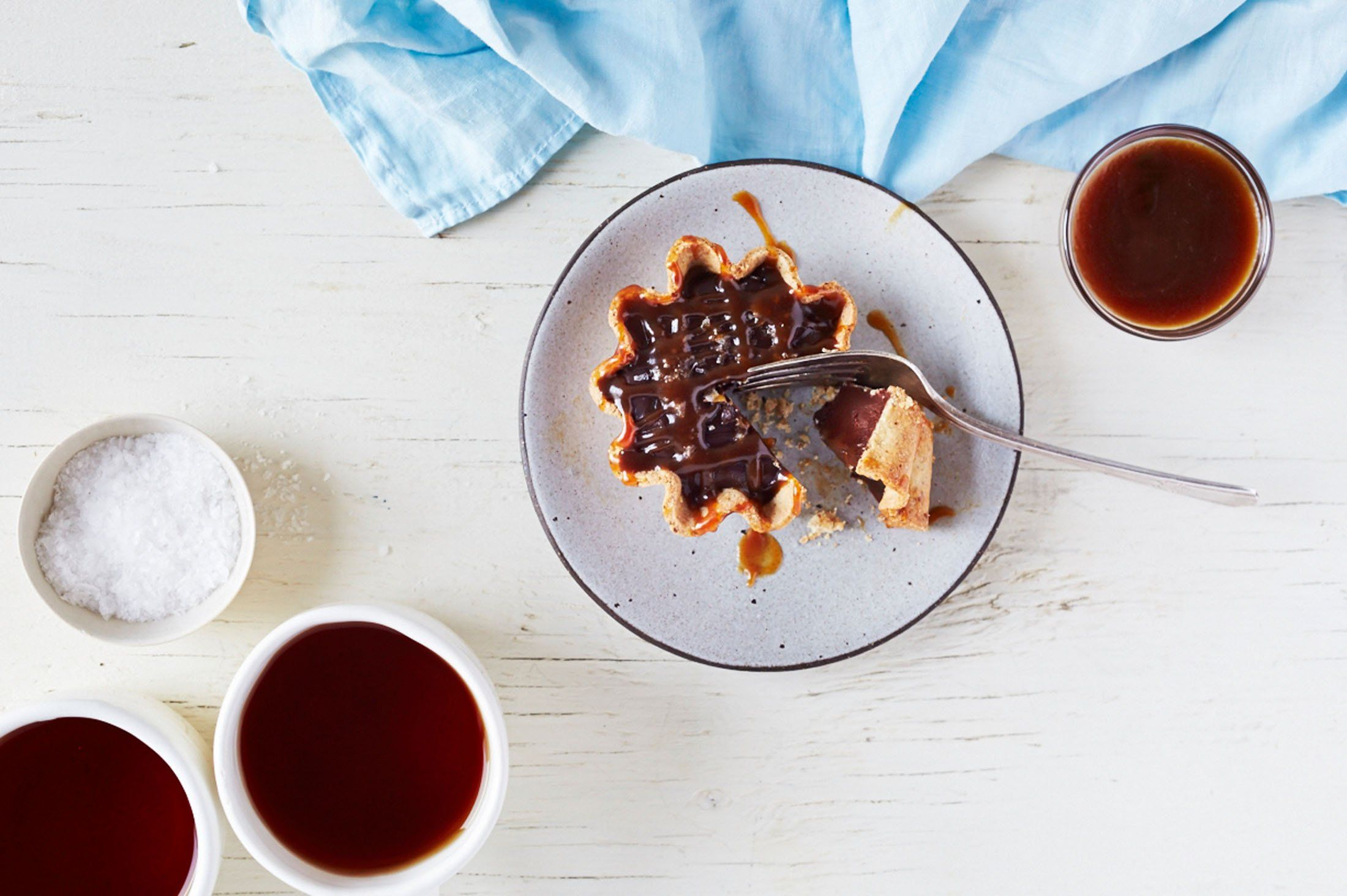 DECADENT GLUTEN-FREE DARK CHOCOLATE SALTED CARAMEL TARTLETS