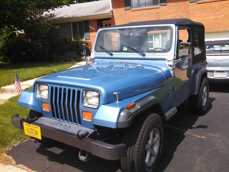 Car Brand Auctioned Jeep Wrangler Yj Jeep Wrangler Yj 1989 Soft Top Low Mileage Classic Restored Runs Great Check Blue Jeep Wrangler Jeep Wrangler Yj Blue Jeep