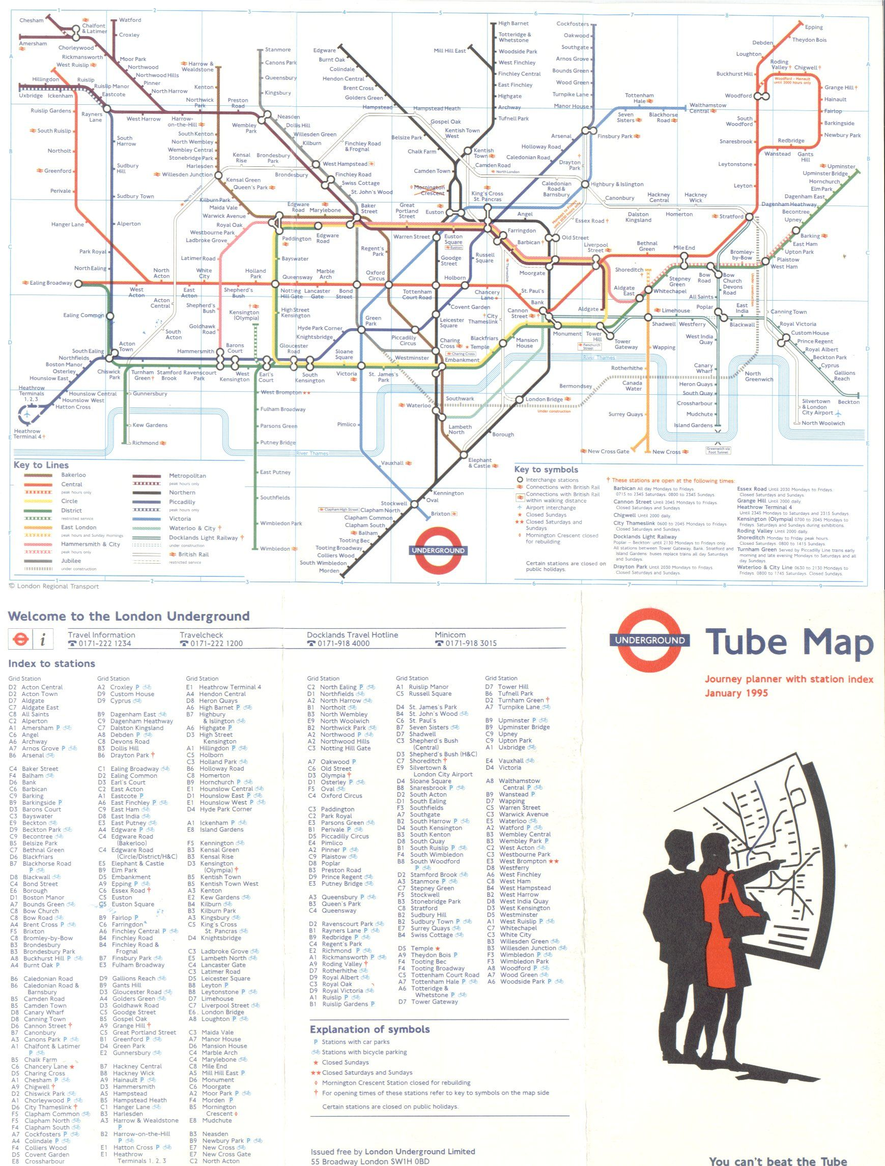 1995 London Underground Map Http Homepage Ntlworld Com Clive