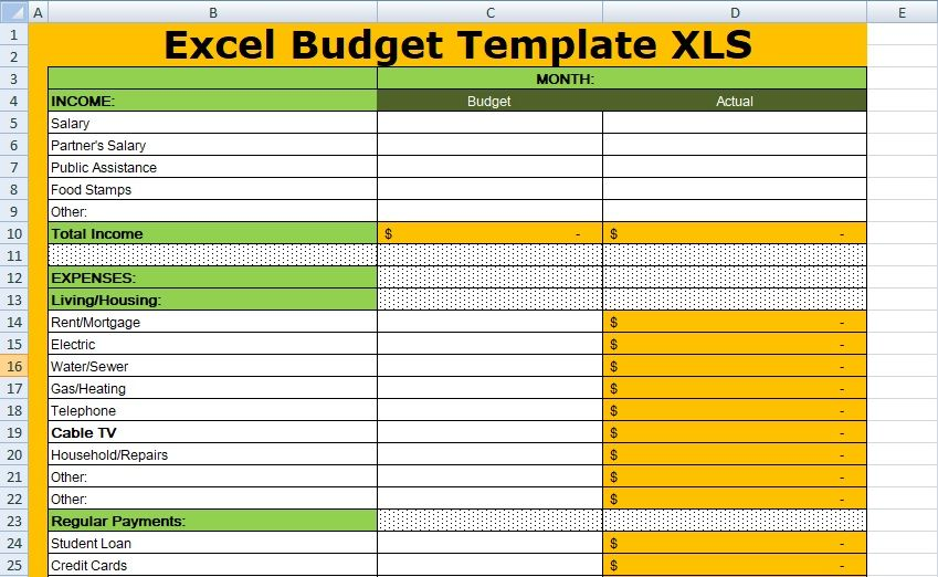 Monthly Household Budget Template Awesome 14 Easy to Use
