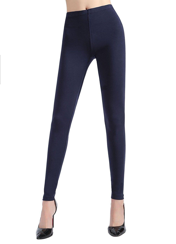Women S Full Length Thick Cotton Leggings Navy Cu12id49p57 Cotton Leggings Women Clothes Sale Women S Leggings