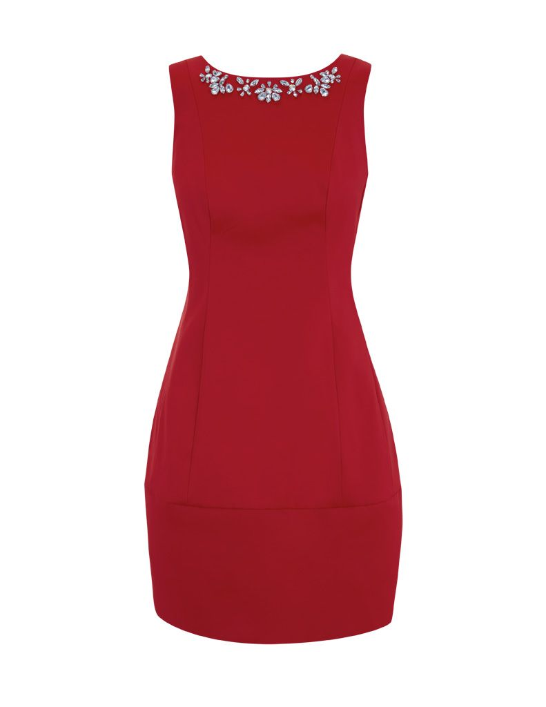 Jewel neck tulip dress- perfect for hour-glass figures