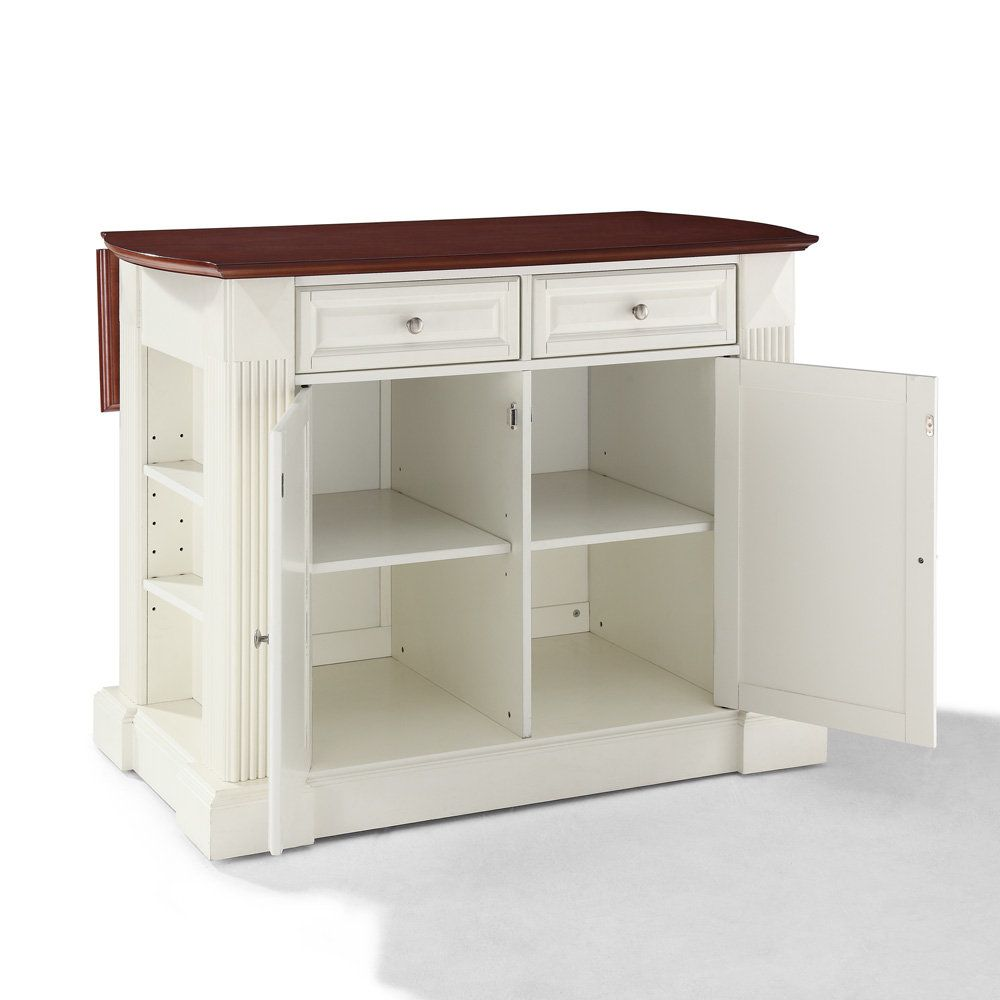 Small White Kitchen Island: ... Drop Leaf Breakfast Bar Top