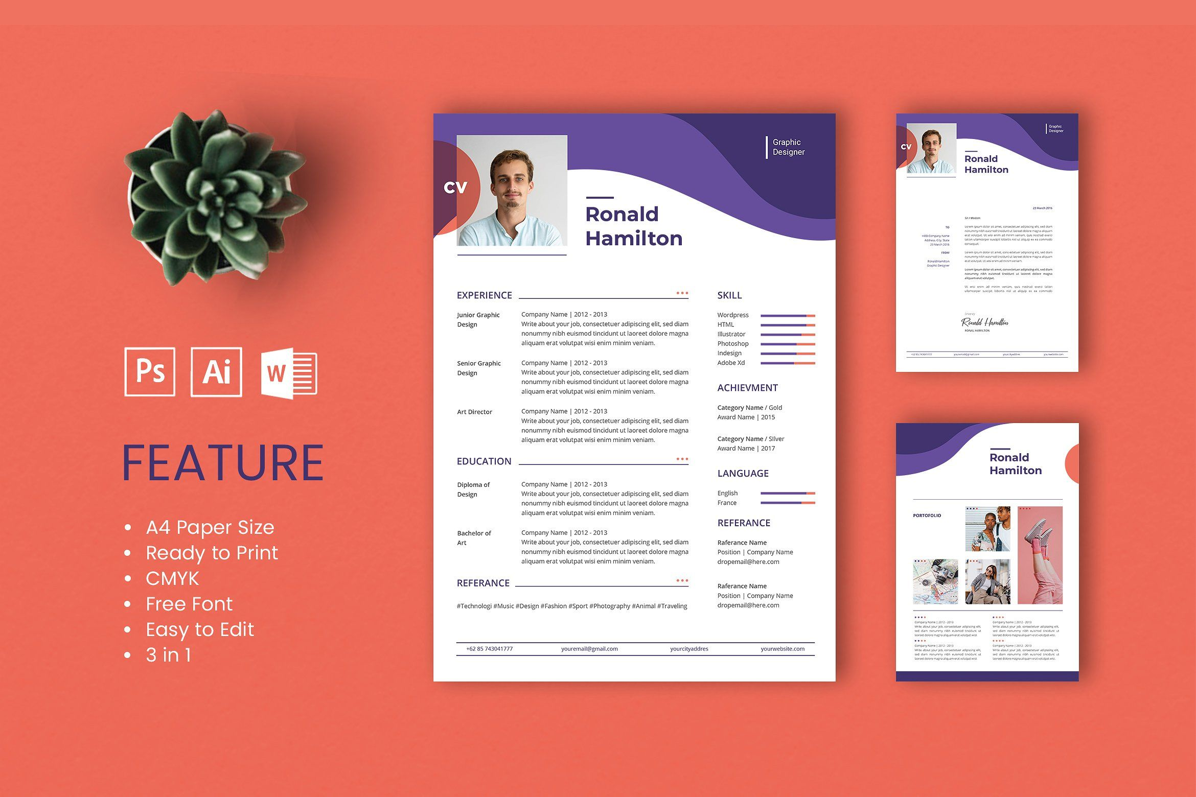 Professional Cv And Resume Template Resume Design Template Resume Template Professional Cv