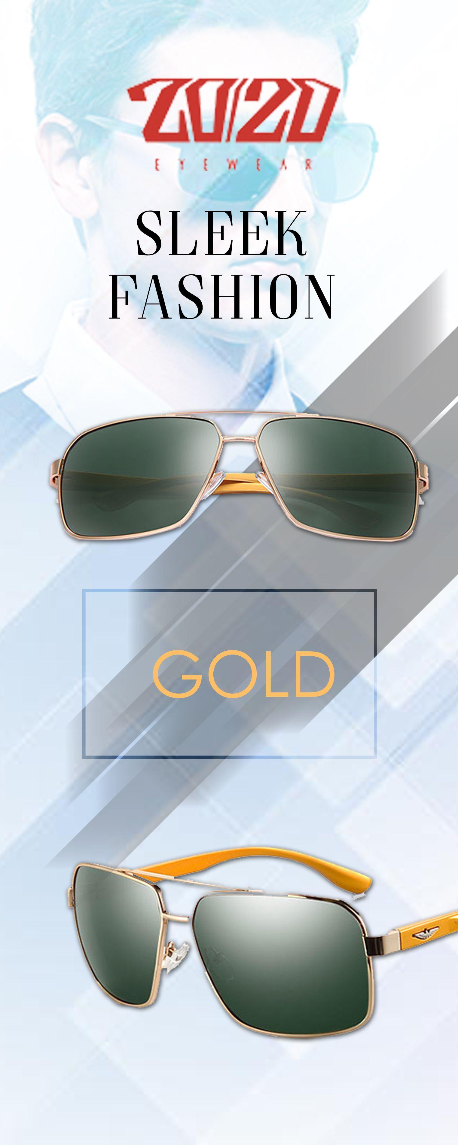 43ba44e6ed 20 20 Brand Design Aluminum Polarized Sunglasses - Gold Men s affordable  top brand designer style