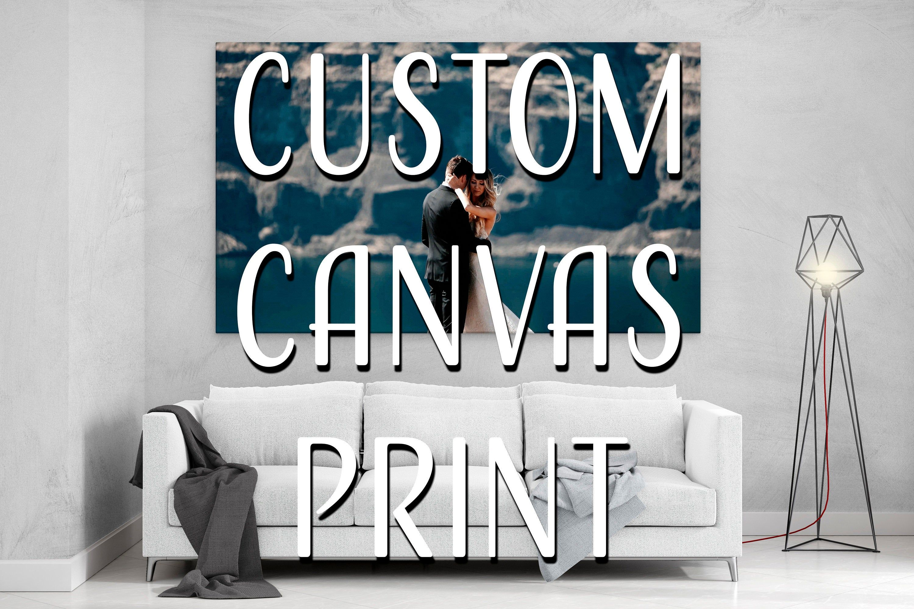 Custom Canvas Prints With Your Photo Personalized Canvas Wall Etsy Custom Canvas Custom Canvas Prints Personalized Canvas Wall Art