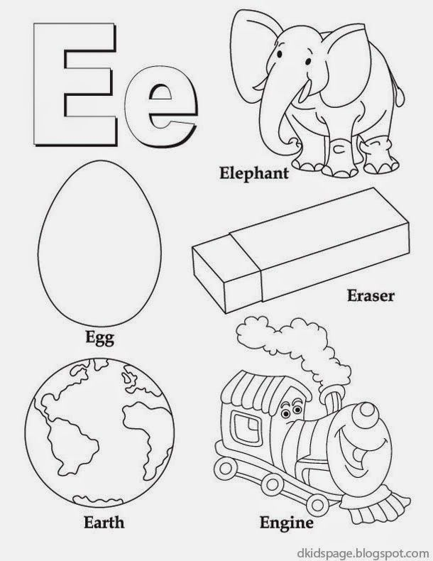 Alphabet Letter E Printable English
