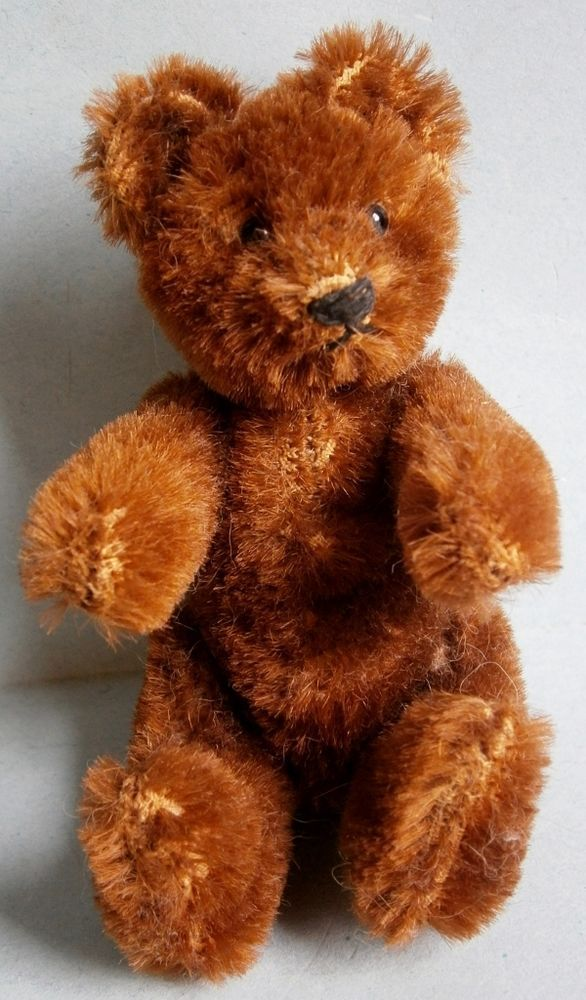 Jointed Mohair Chocolate Brown Teddy Bear Antique Bears