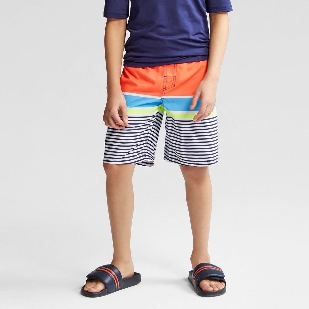 4e76161635 Boys' Stripe Swim Trunks - Cat & Jack XL, Orange | Products | Swim ...