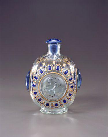 Emile Gallé Perfume Bottle c.1884 Design by Victor Prouve(1858-1943)