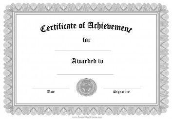 Editabe Free Certificate Of Achievement Templates Business  Certificates Of Achievement Templates Free