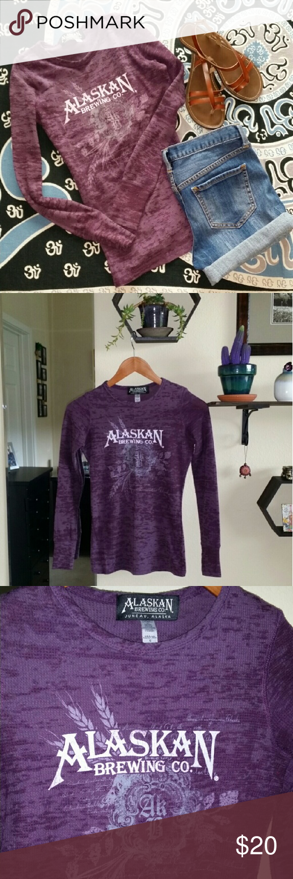 Alaskan Brewing Co. Thermal Shirt Alaskan Brewing Co.  Juneau, Alaska thermal long sleeve t-shirt. Only worn a few times. Too small on me now. Size small but runs xsmall-small. Jean shorts available in closet as well. Alaskan Brewing Co. Tops Tees - Long Sleeve