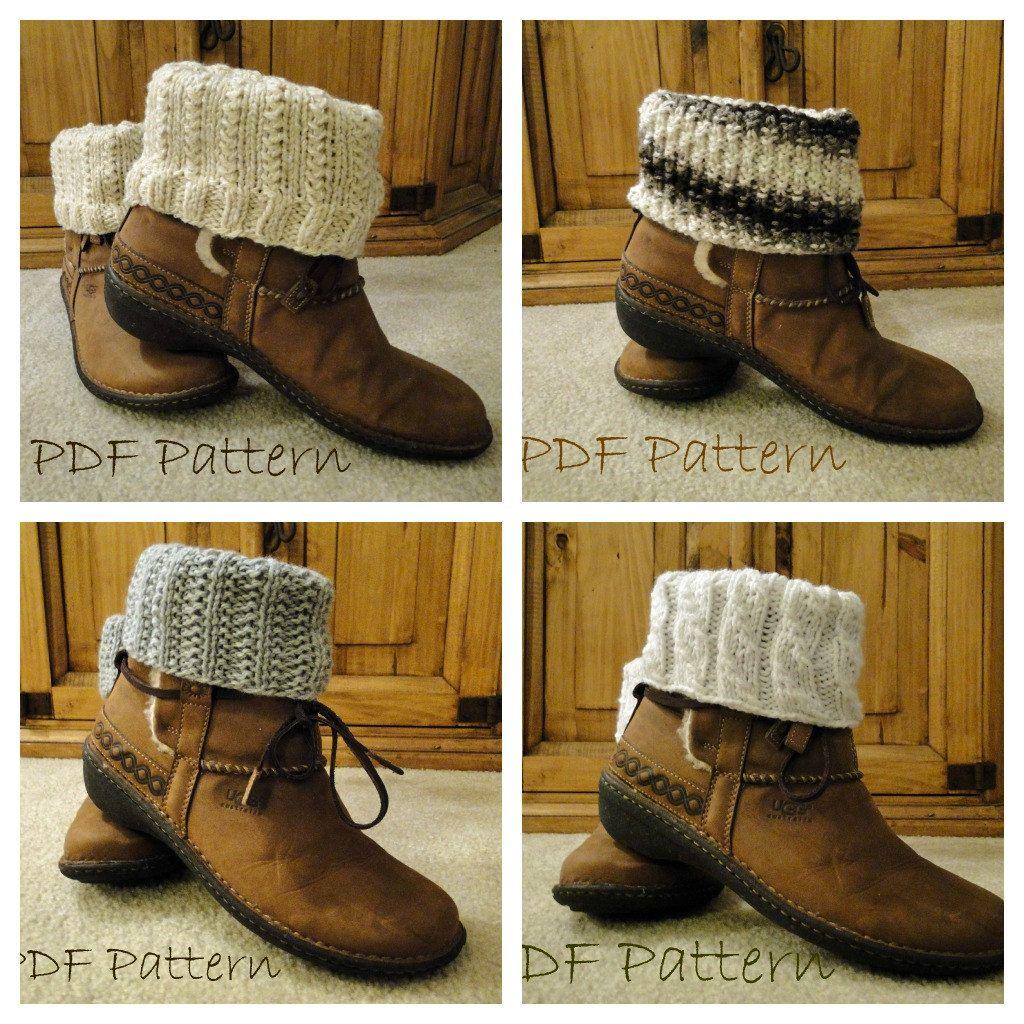 PDF Patterns Knit Boot Cuff, Leg Warmer 4 different patterns   Knit ...