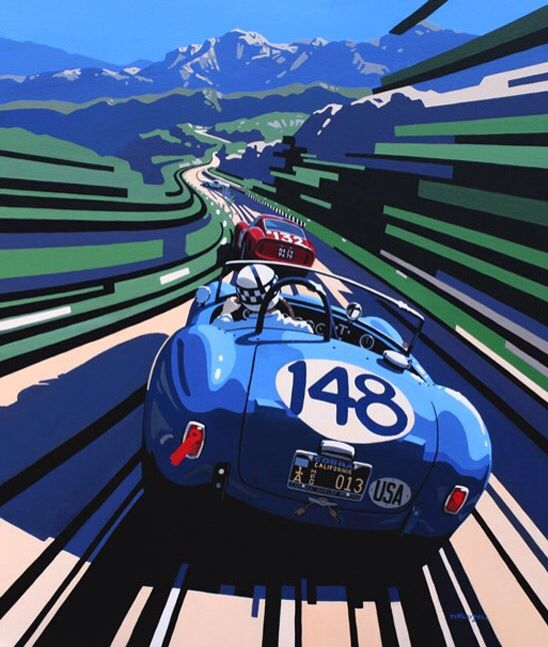 Racing Car Graphic Art Poster: Tim Layzell / Timlayzell.com