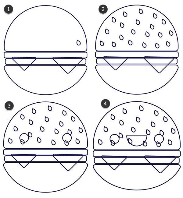 draw details on your hamburger stuff pinterest hamburgers