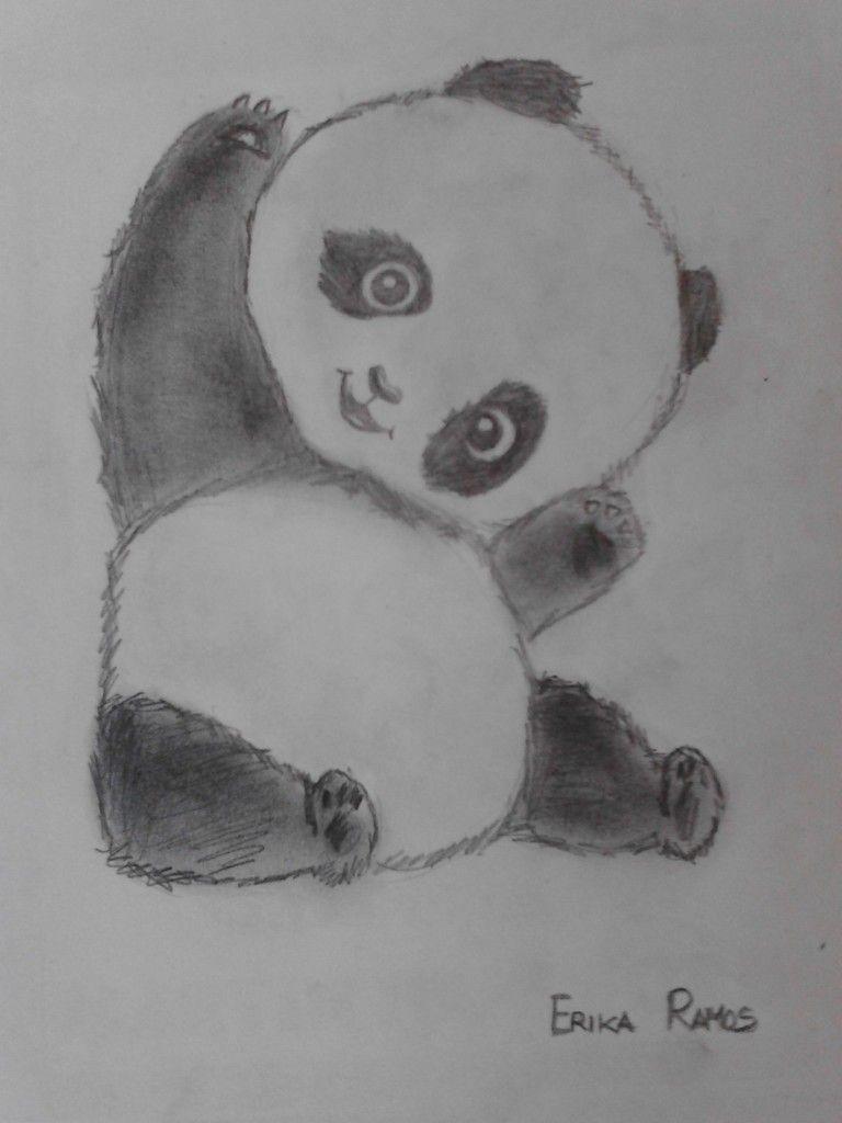 Panda dibujo a lapiz  Dibujos  Pinterest