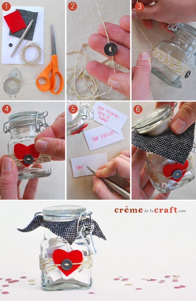Diy 10 Things I Love About You Jar Diy Valentines Gifts Diy Valentines Day Gifts For Him Valentine S Day Diy