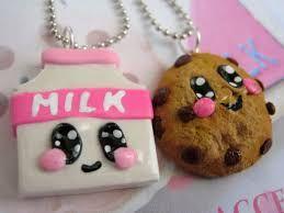 Resultado de imagen para galleta y leche kawaii