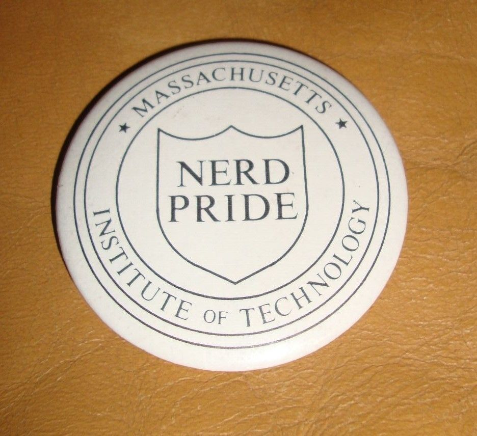 Vintage Massaschusetts Institute of Technology Nerd Pride Pin - Estate