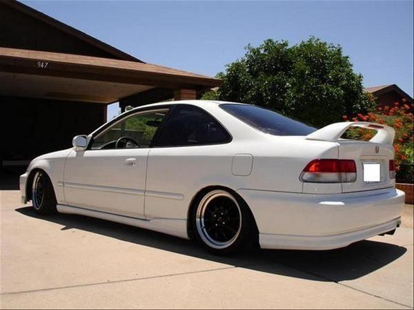 Honda Civic SI 2000 White | JDM | Pinterest | Honda civic ...