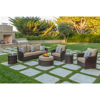 San Marino 8 Piece Deep Seating Set By Sirio L From Outdoor Wicker Furniture