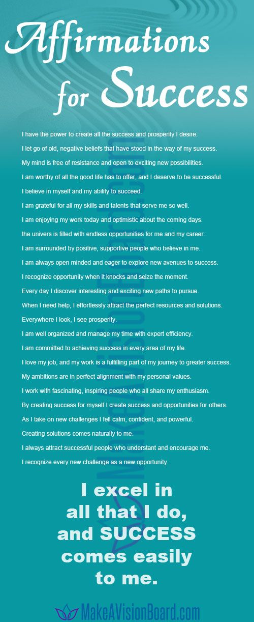 50 Affirmations for Success & Prosperity in Your Life