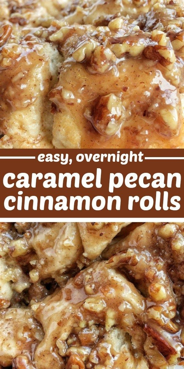 No Yeast Overnight Caramel Pecan Cinnamon Rolls | Overnight Cinnamon Rolls | No Yeast Cinnamon Rolls | Caramel | These easy overnight caramel pecan cinnamon rolls start with frozen bread dough! No yeast or rising to worry about. Simply prepare the cinnamon rolls the night before and bake up delicious, gooey, caramel pecan cinnamon rolls for a special breakfast treat.