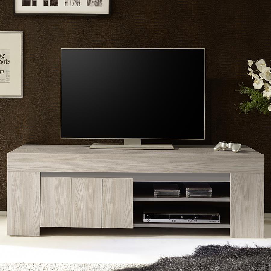 Petit meuble tv moderne couleur bois gris pluma 2 meuble tv meuble tv meuble tv moderne et for Petit meuble moderne