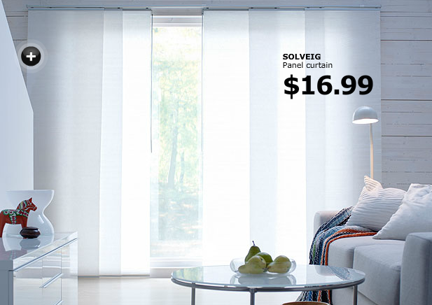 Ikea KVARTAL Panel Curtain System. I Can Use This For The