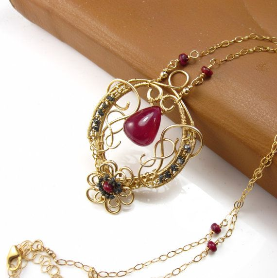 MOTHERS DAY SALE Ms Ruby Divine Necklace by glowfly on Etsy, $280.80