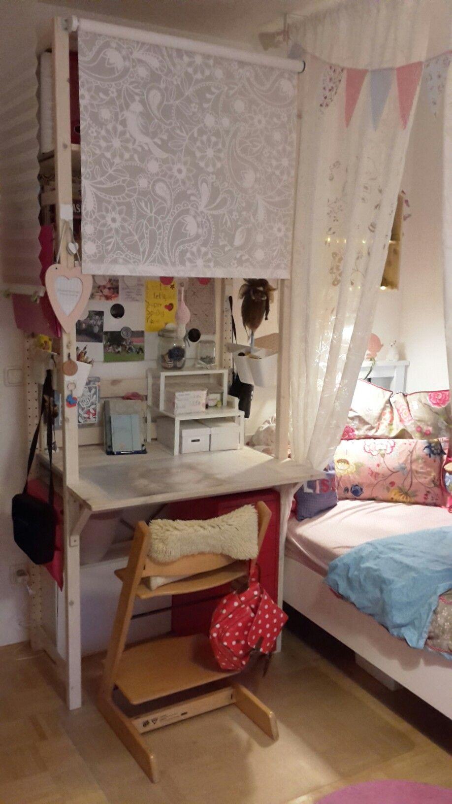 schreibtisch sekret r aus ikea ivar regal ikea ivar schreibtisch sekret r diy pinterest. Black Bedroom Furniture Sets. Home Design Ideas