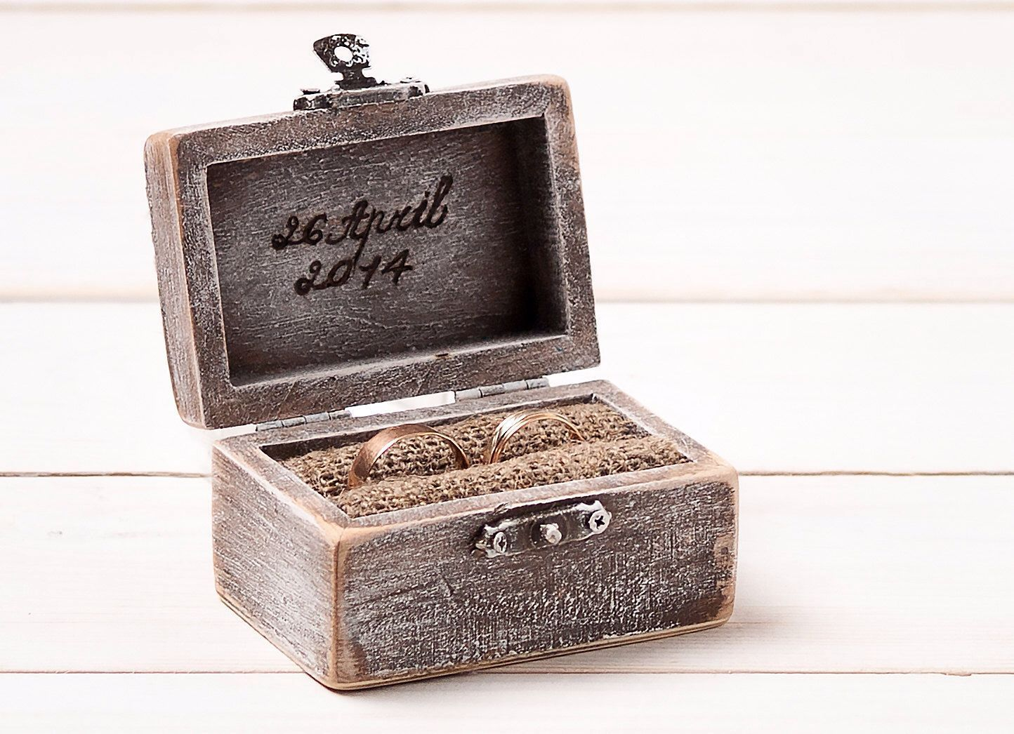 Wedding ring box ring holder pillow bearer box personalized custom