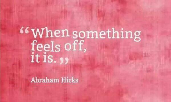 When something feels off, it is.