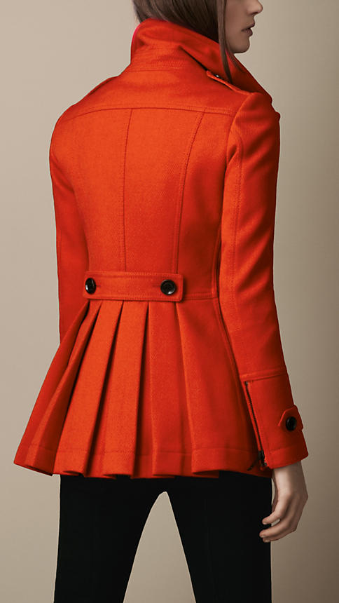 Red pea coats for women