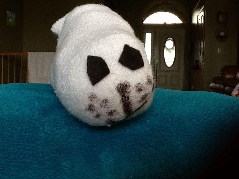 Terrific Tsum Tsum Seal Made From Sock Kids Fun Stuff Frankydiablos Diy Chair Ideas Frankydiabloscom