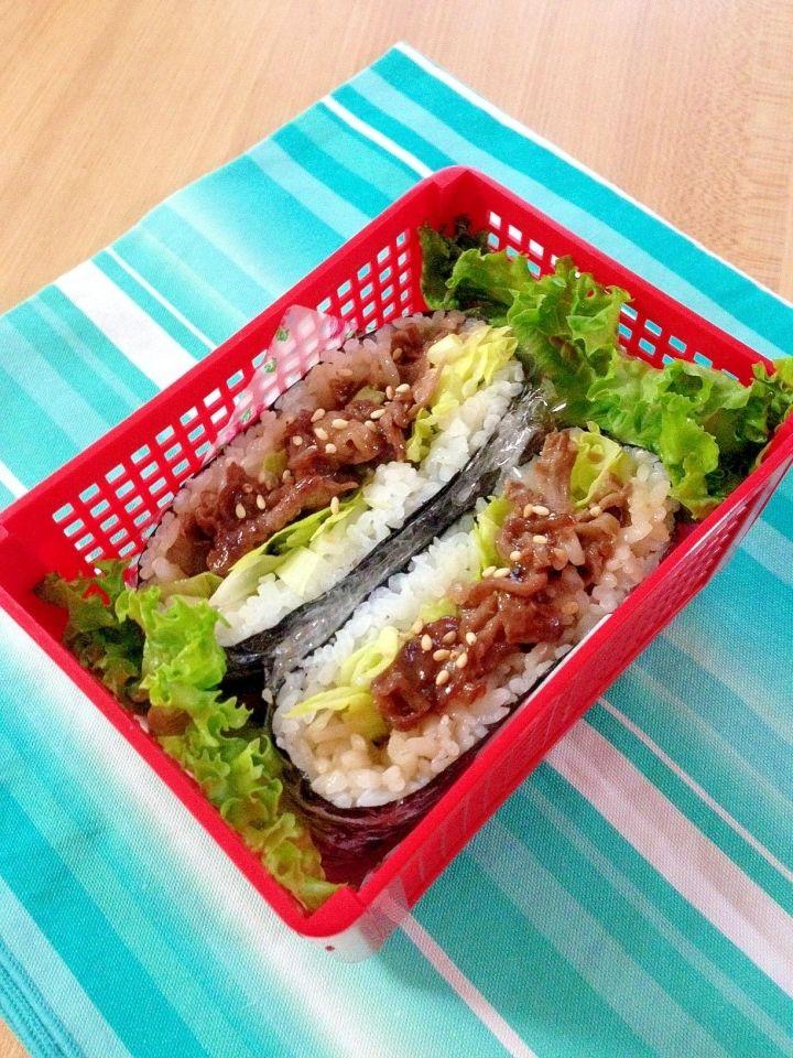 Easy Bulgogi Onigirazu (Rice Sandwich) | Bulgogi, Easy meals