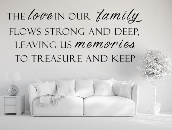 The Love In Our FamilyVinyl Wall Decal Family Wall Decal - Custom vinyl wall decals family quotes