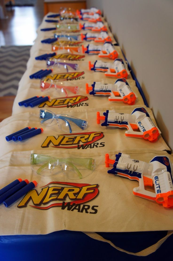 Host a fun-filled Nerf Gun party for your adventurous birthday boy. Love  this