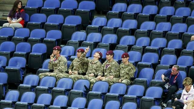 Military drafted in to fill empty seats at London Olympics (Photo: Mike Blake / Reuters) #NBCOlympics
