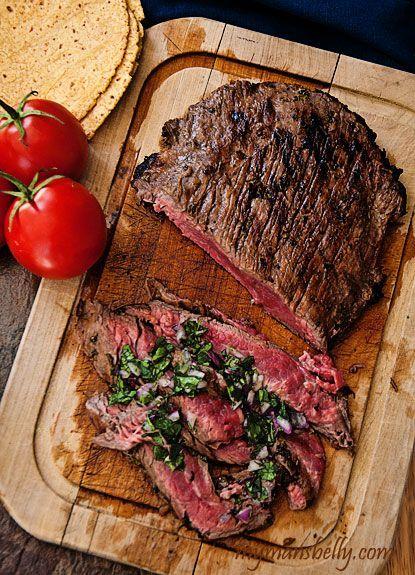 brazilian grilled flank steak dinner made easy rezept. Black Bedroom Furniture Sets. Home Design Ideas