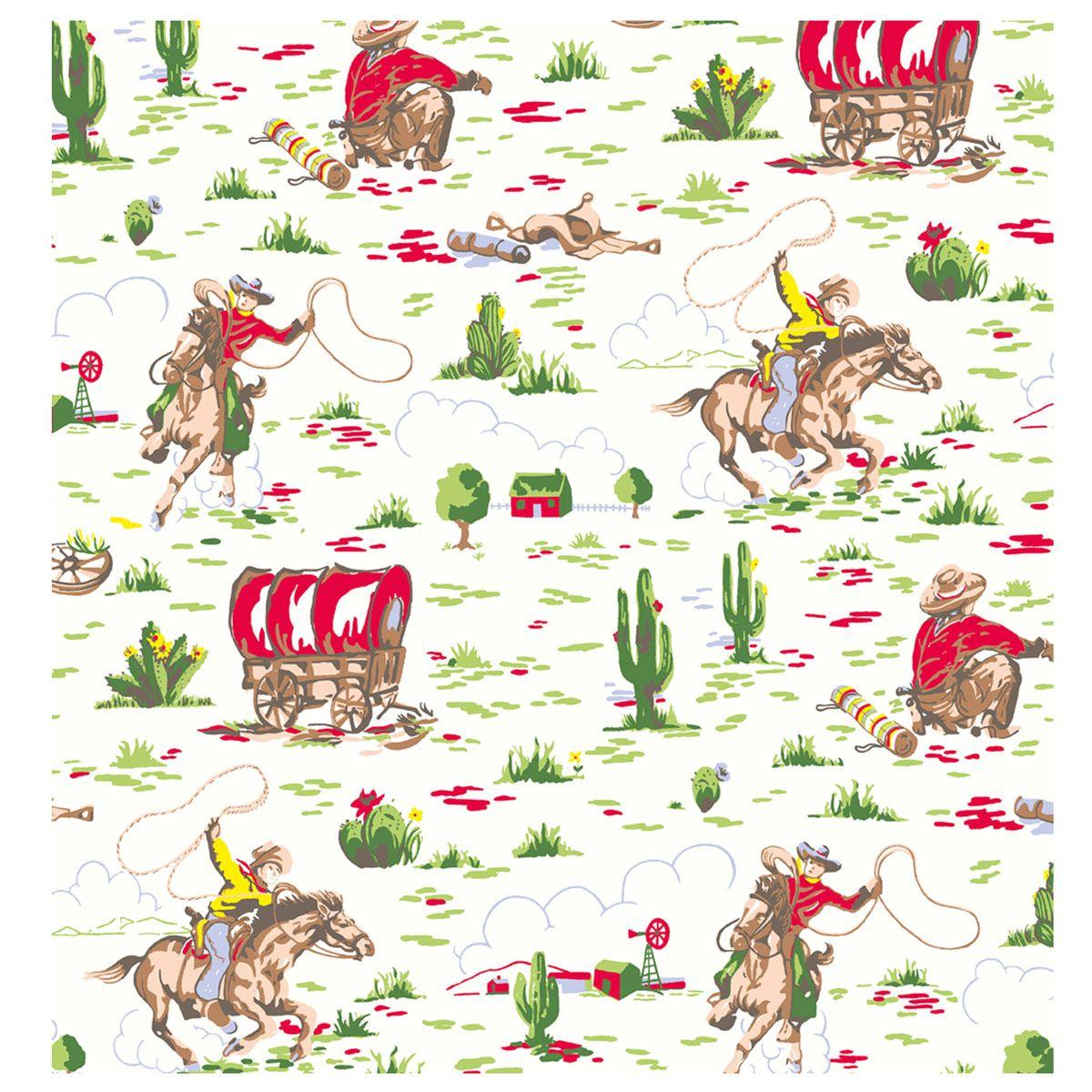 Cath Kidston Cowboy Wallpaper