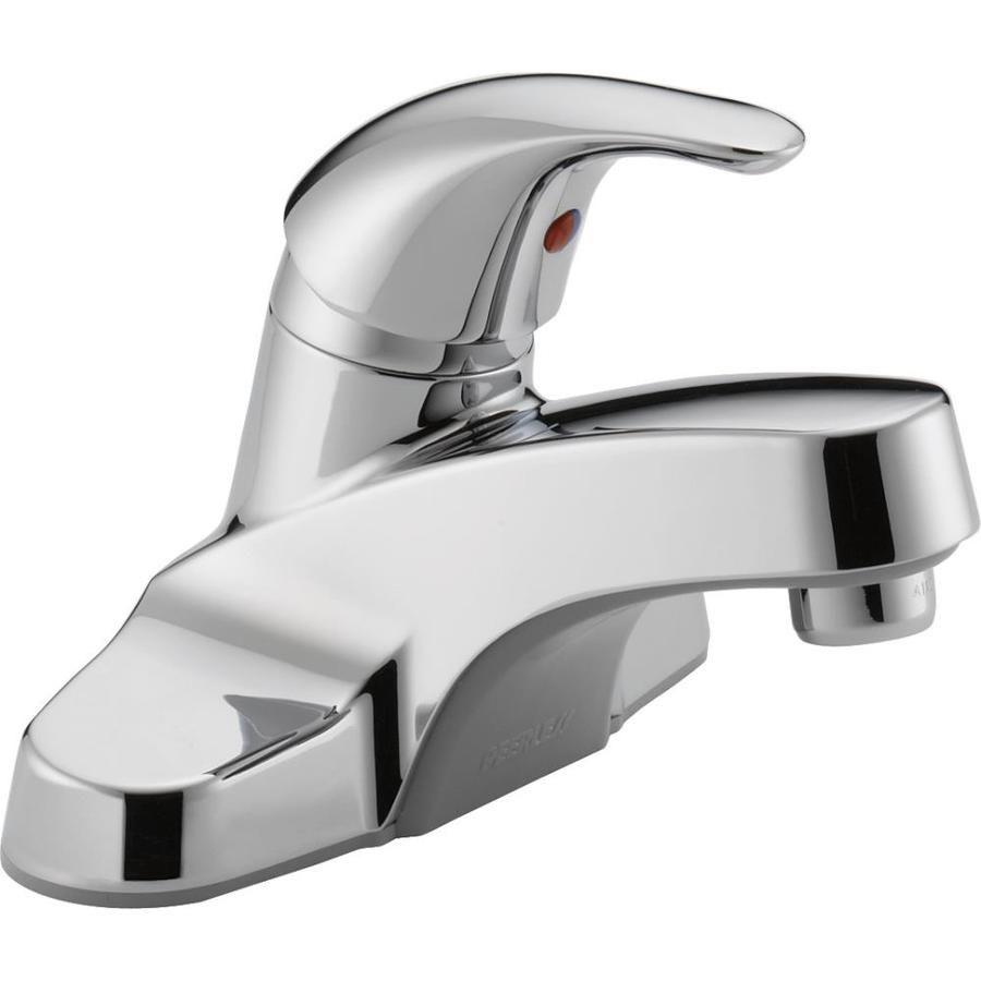Peerless Chrome 1 Handle 4 In Centerset Watersense Bathroom Sink Faucet Lowes Com Bathroom Faucets Best Bathroom Faucets Single Handle Bathroom Faucet [ 900 x 900 Pixel ]