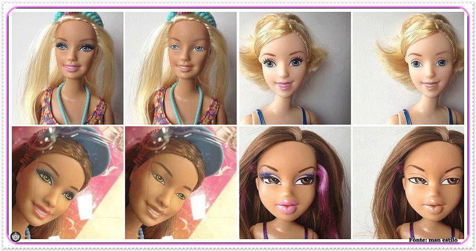 Hasta las Barbies necesitan maquillaje. Je. | LOOK antes y ...